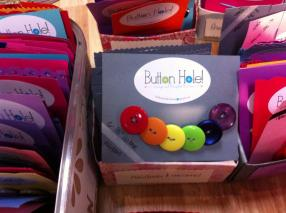 A rainbow button set from Buttonhole! Buttons