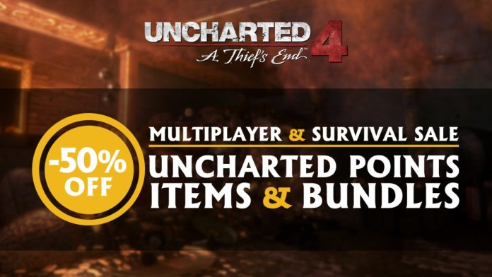 Uncharted 4 is Having a Multiplayer Item Sale - 50% off