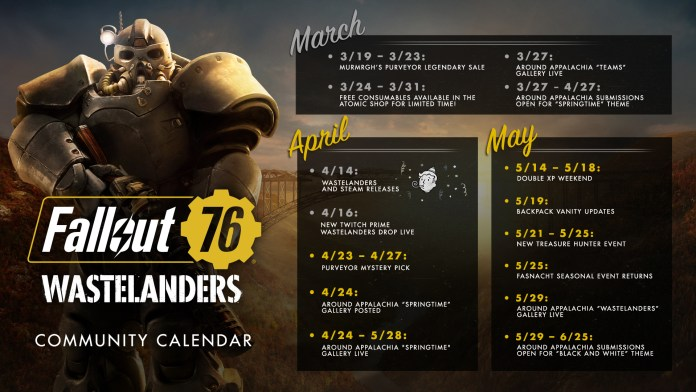 Bethesda is Opening PTS Again for Fallout 76; Community Calendar Revealed