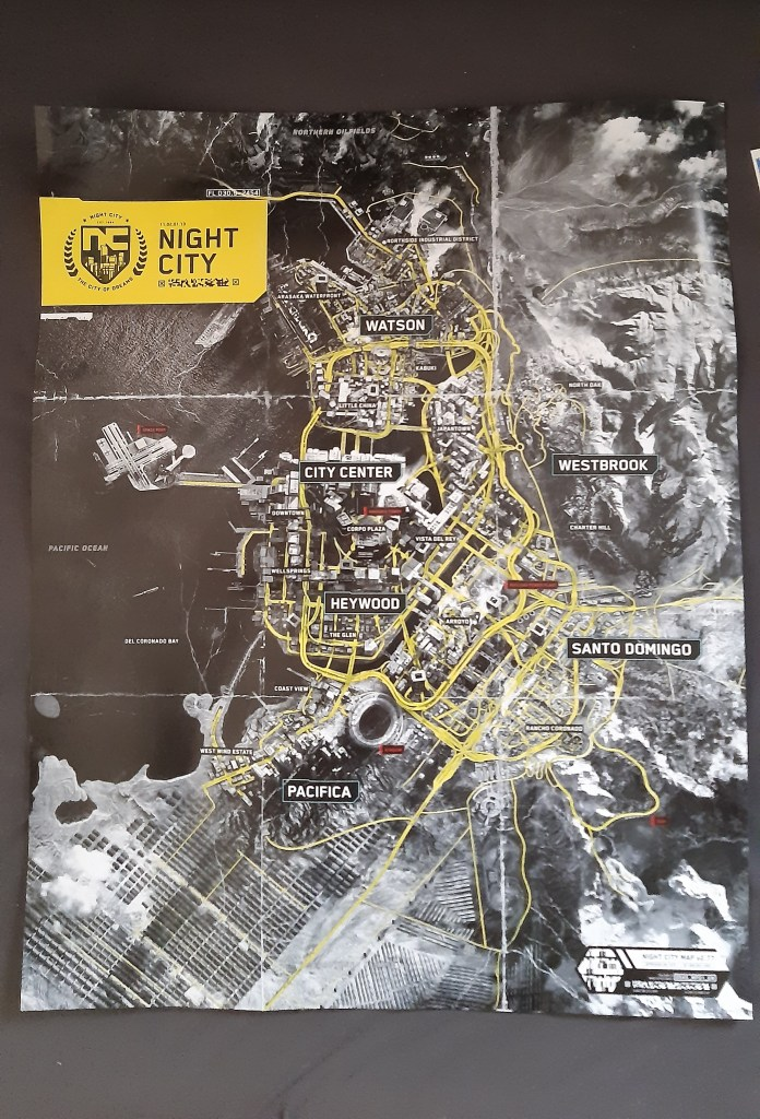 Cyberpunk 2077's World Map Has Been Leaked