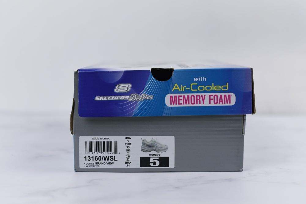 buty skechers etykieta na oryginalnym pudełku