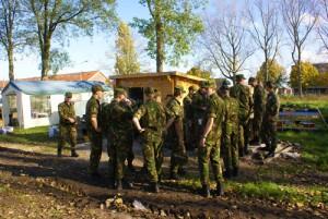Aankomst cadetten