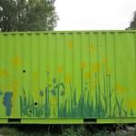 Beschilderde container 2