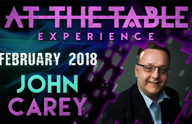 At The Table Live Lecture John Carey February 21st 2018