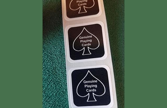 Kártya lezáró matrica (Fekete)