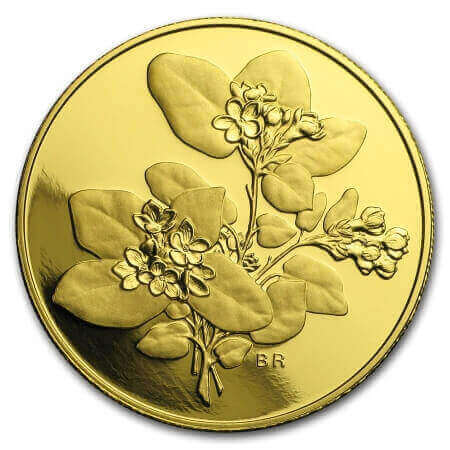 the purest bullion coins out of gold include this 2001 Mayflower coin