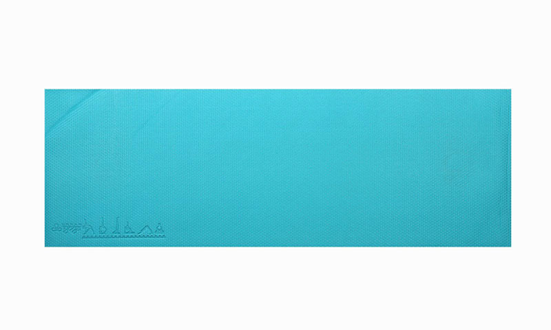 blue PVC yoga mat