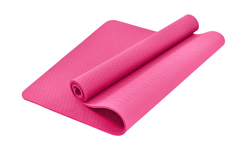 latex free pink TPE yoga mat