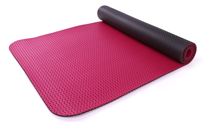 yoga mat with breathable holes
