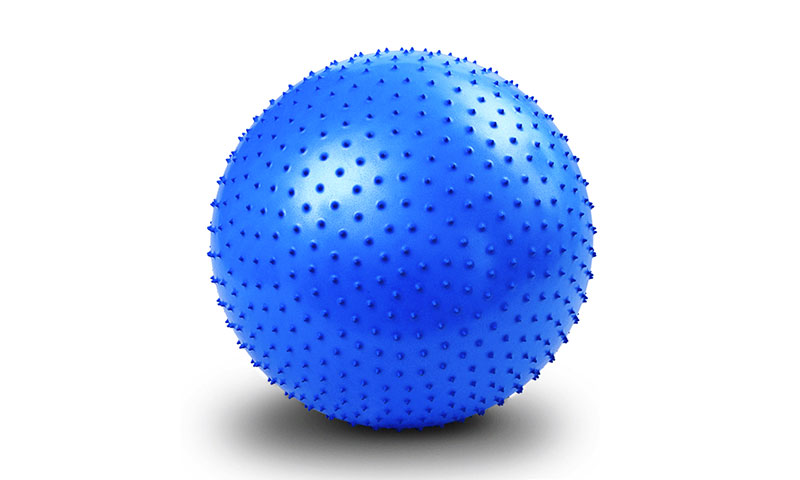 blue massage yoga ball