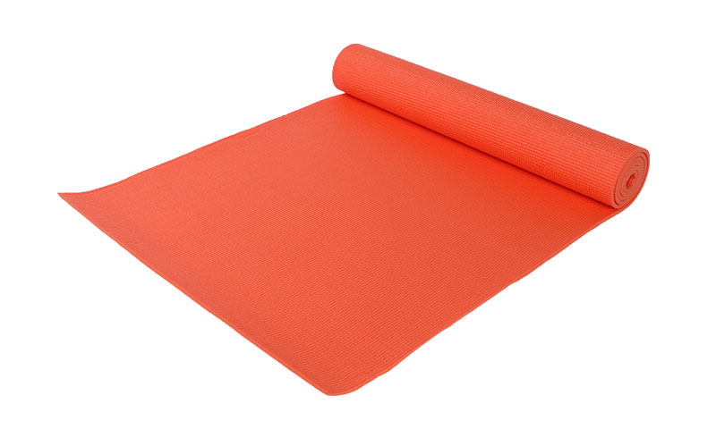 orange PVC yoga mat