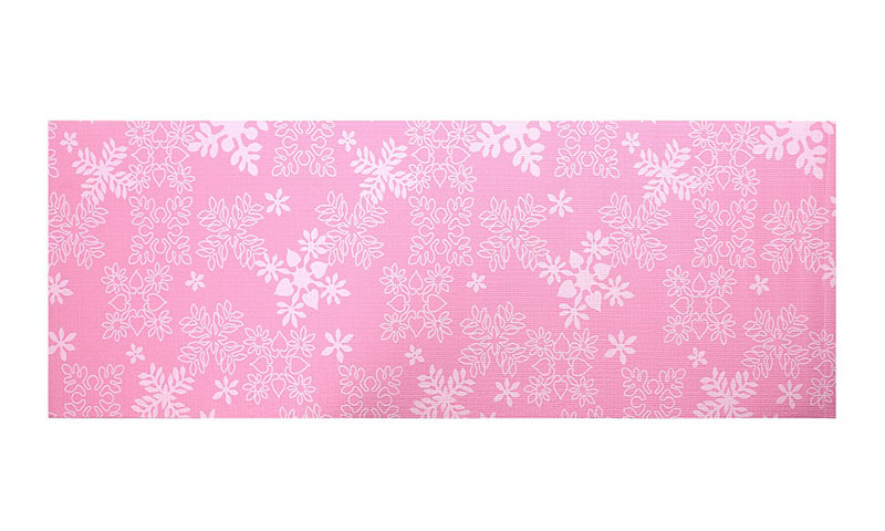 snowflake printed PVC yoga mat