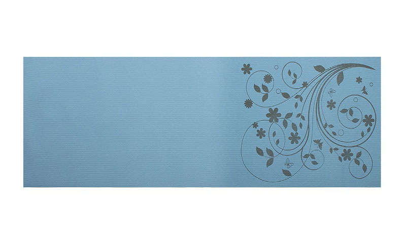 blue printed PVC yoga mat