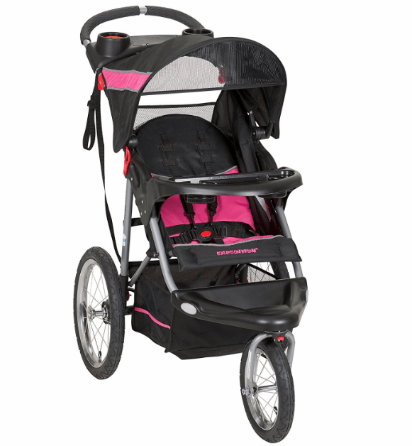 Baby Trend Expedition Single Jogger Stroller, Bubble Gum