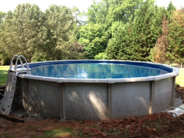 24 round resin above ground pool with salt system 2 youngsville nc pools from 995 for Resin above ground swimming pools