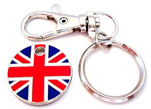 Union Jack Trolley Coin Token Keyring
