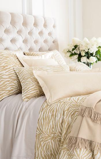 Annie Selke Bedding Zebra Velvet