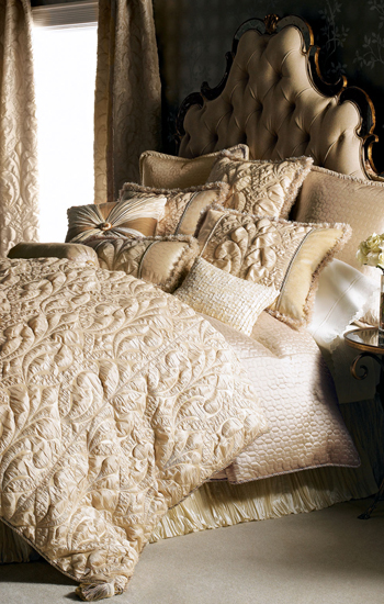 Dian Austin Neutral Modern Damask Bedding