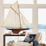 Coastal Decorating | Sailboat Racer Model