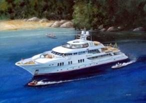 Yacht crew silver service training