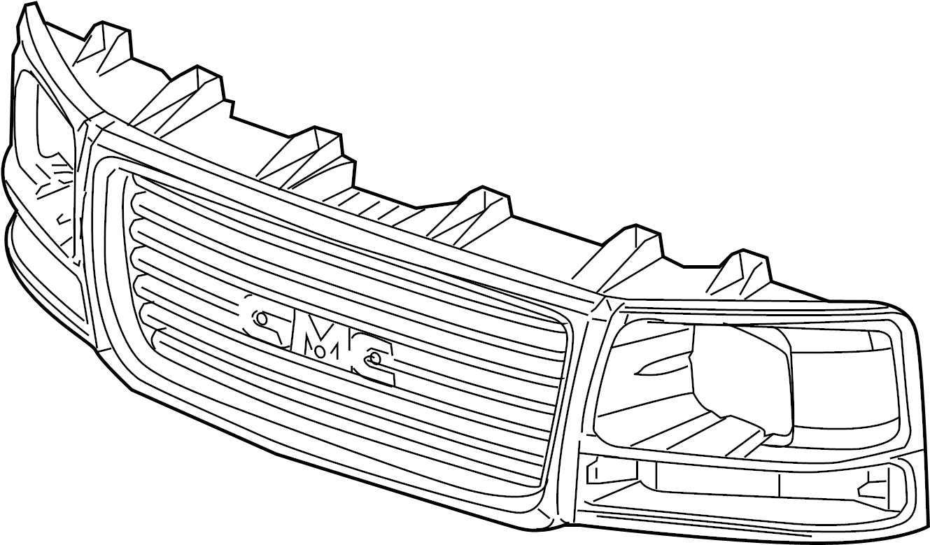 Gmc Savana Grille Gmc W O Chrome Front Motors