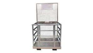Machineal man lift cage fork mounted forklift work platform