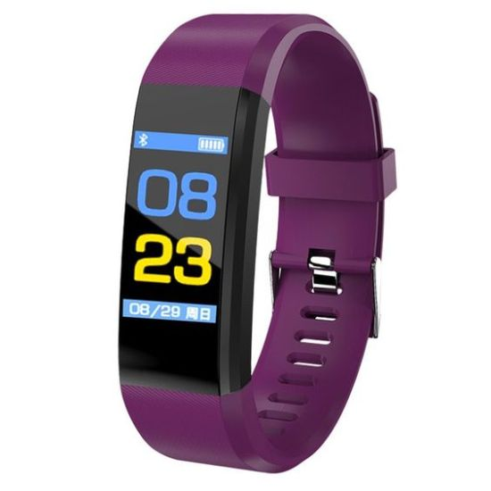 smartwatch blood pressure bangwei purple