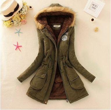 parka hooded jacket women army parka jackets