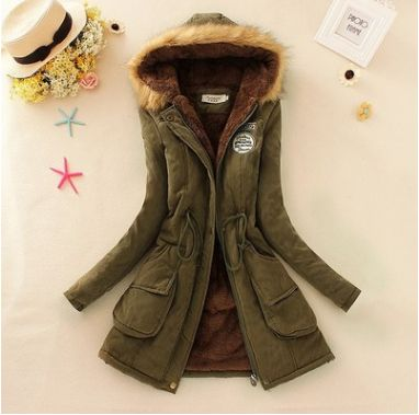 parka hooded jacket women army parka jackets