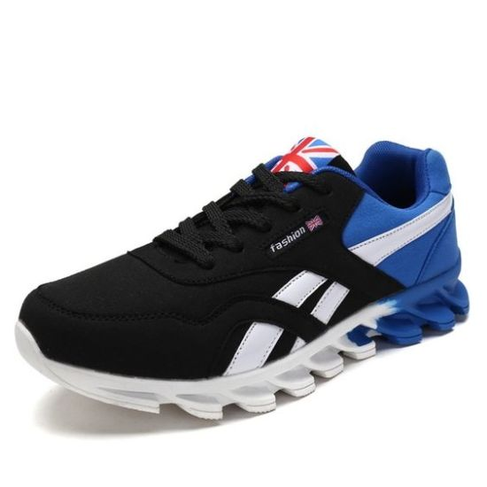 hajink casual men's shoes black darkblue