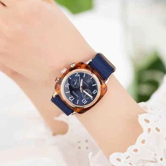 nylon watch bands 20mm blue
