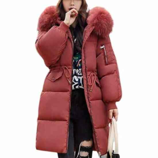 winter 2020 parka jacket women red