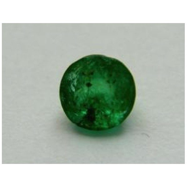 027 Ct Natural Dark Green Colombian Emerald Gemstone For Sale