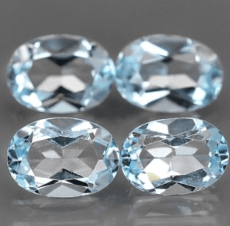 371 Ct Natural Light Blue Topaz Gemstone Lot Oval Faceted