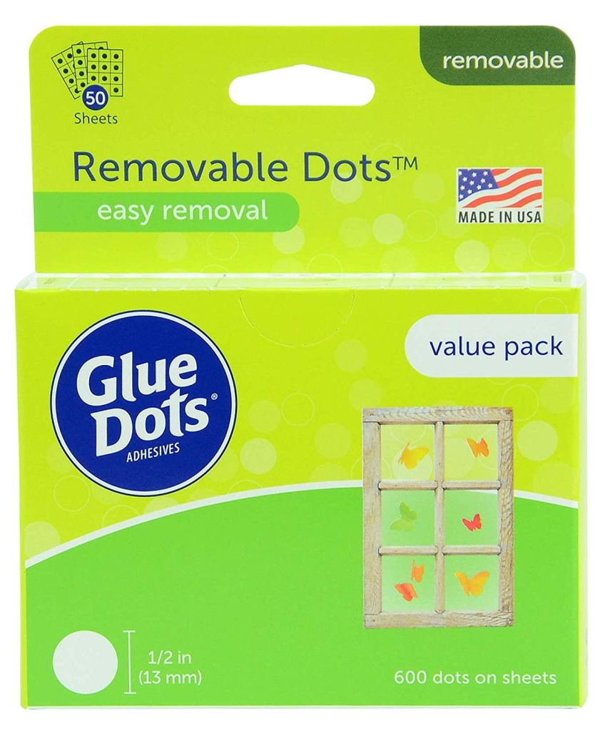 removable glue dots