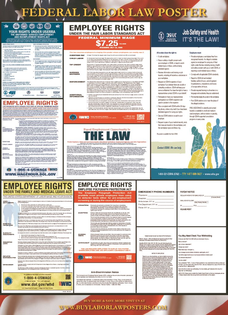 2018 federal labor law poster 12 87