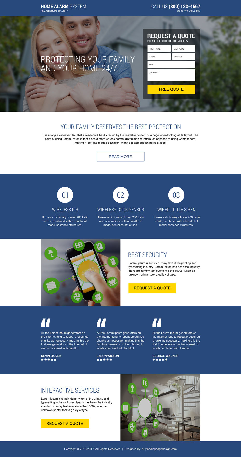 Top Home Alarm Systems 2017