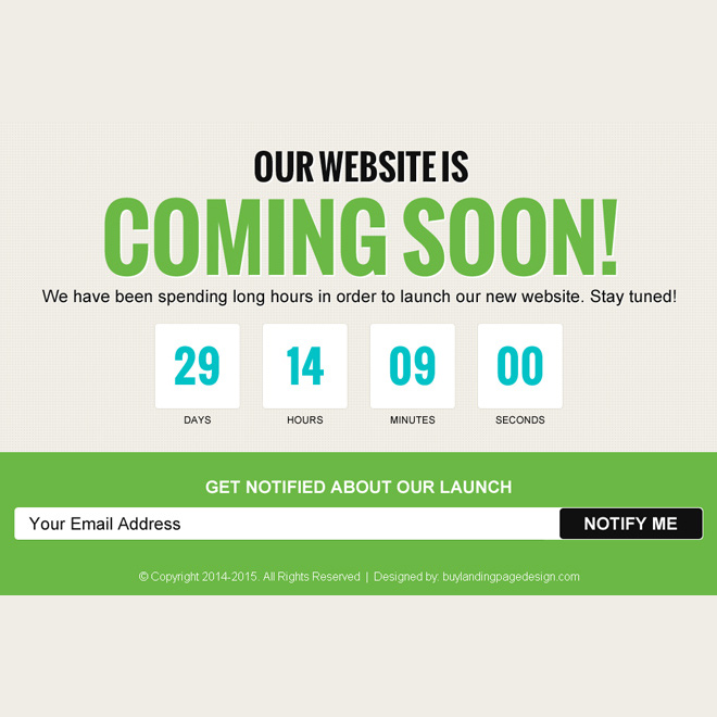 Coming Soon Landing Page Designs To Capture Email Leads