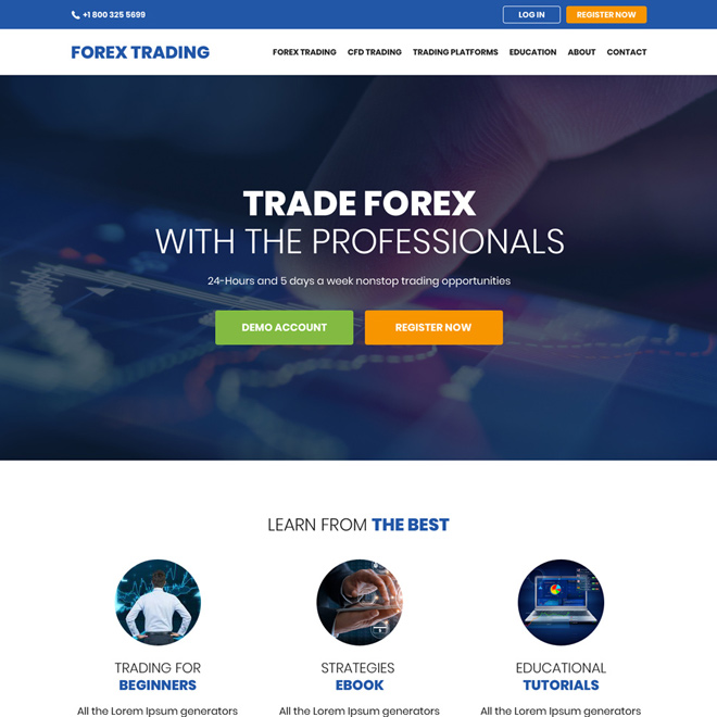 It also makes your website fully responsive and highly reliable. High Quality Responsive Forex Trading Website Design Templates