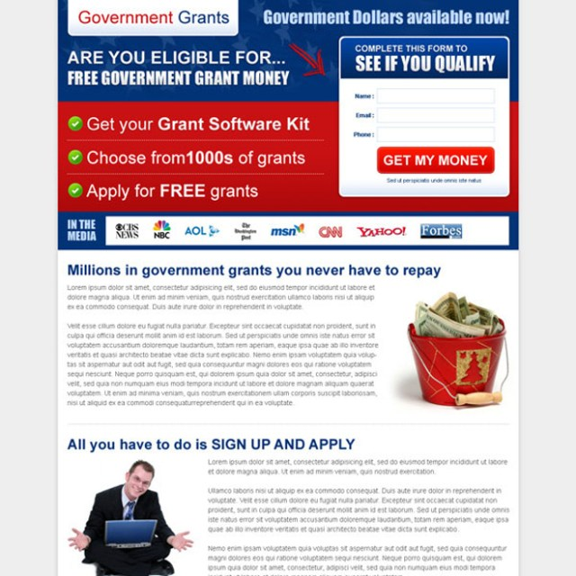 The best government grants landing page design templates ...