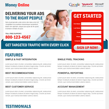 earn money online landing page
