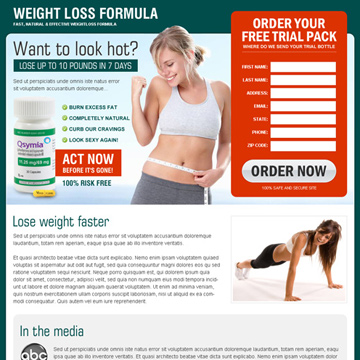 weight loss formula landing page