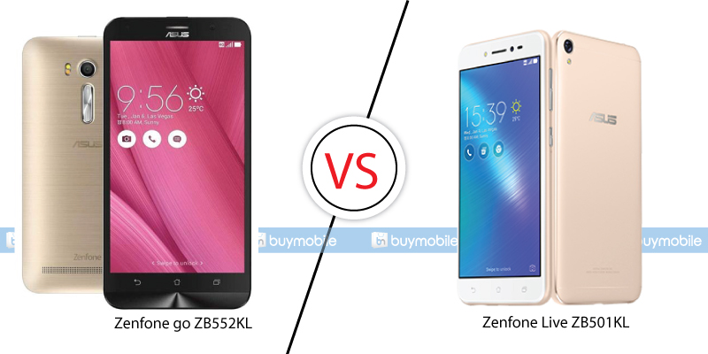 Zenfone go ZB552KL and Zenfone Live ZB501KL Comparison