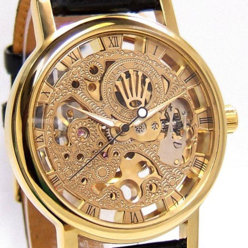Rolex Transparent Back Golden Watch Called Skeleton Watch ...