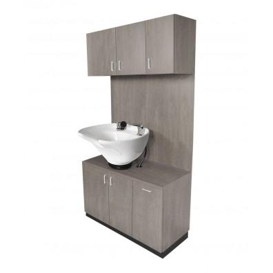 shampoo bowl cabinets salon sink