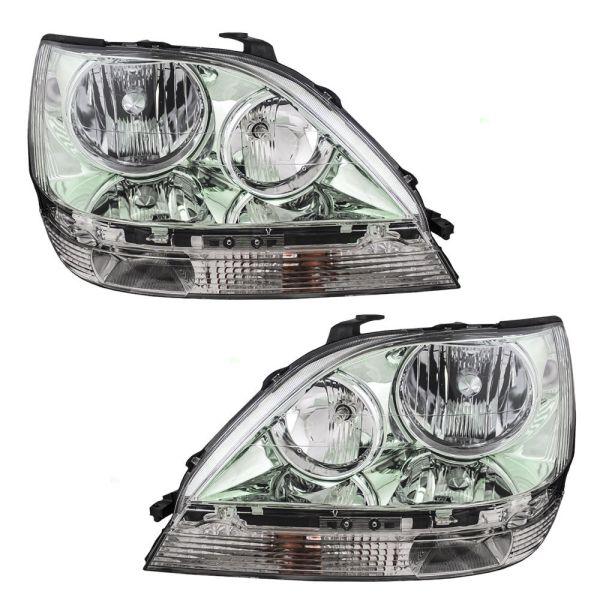 Fleetwood Revolution Chrome Headlights Assembly Pair (Left & Right)