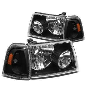 Winnebago Vista Replacement Headlights & Corner Turn Signal Light Assembly 4 Piece Set (Left & Right)