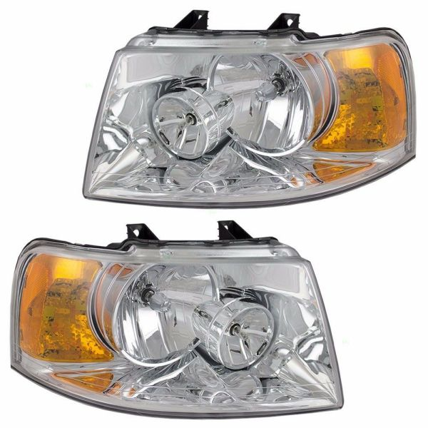 Monaco Signature Fortress IV Headlight Head Lamp Assembly Pair (Left & Right)
