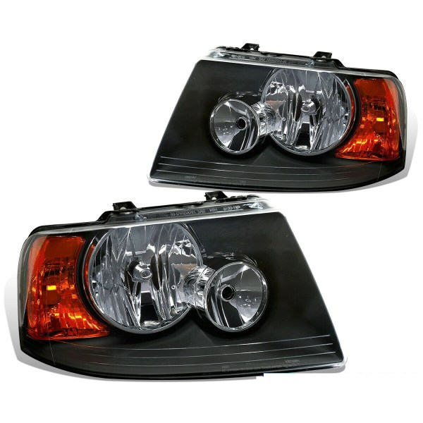 Fourwinds Hurricane Black Headlights Head Lamps Assembly Pair (Left & Right)