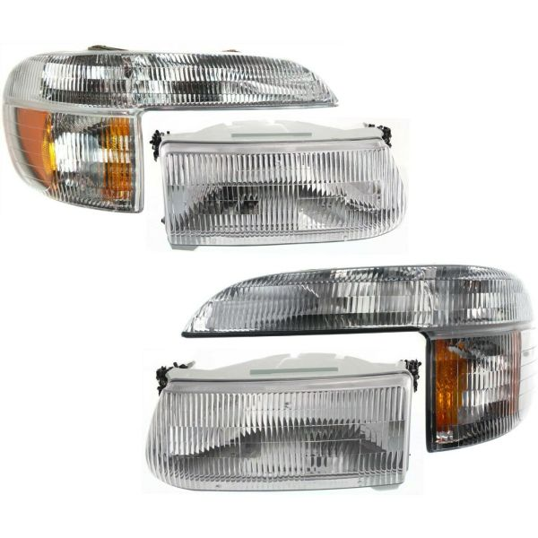 Alfa Summit Replacement Headlights & Signal Lamps 4 Piece Set (Left & Right)